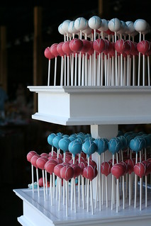 Coral and Blue Cake Pops | by Sweet Lauren Cakes