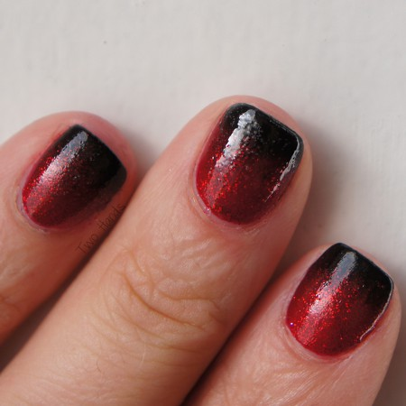 Red To Black Gradient Nails Please Visit My Blog Nail Pol Flickr