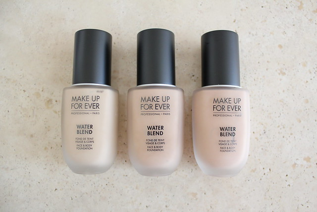 Make Up For Ever Water Blend Foundation in Y245,  R300 and Y325