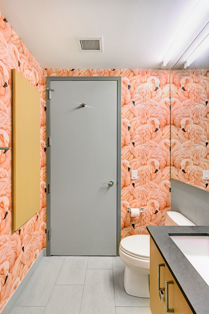 Flamingo Bathroom | You are free to: Share — copy and redist… | Flickr
