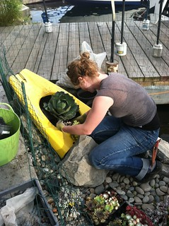 Jade works on Agave planter | by RHR Horticulture