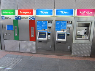Perth SmartRider and paper ticket vending machines - Esplanade station | by Daniel Bowen