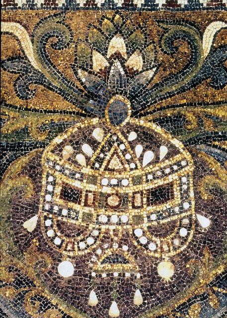 Dome of the Rock (Jerusalem): Interior: Inner octagonal ... Dome Of The Rock Interior Mosaic