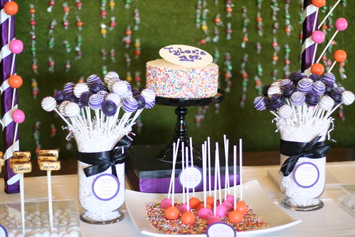 Cake Pop Display for Willy Wonka Themed Party | by Sweet Lauren Cakes
