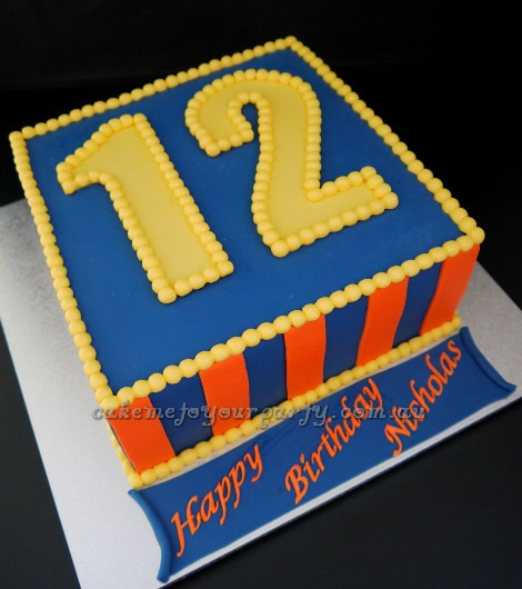 Birthday Cake Designs For 12 Year Old Boy : Boy s 12th Birthday Cake www.cakemetoyourparty.com.au I ...