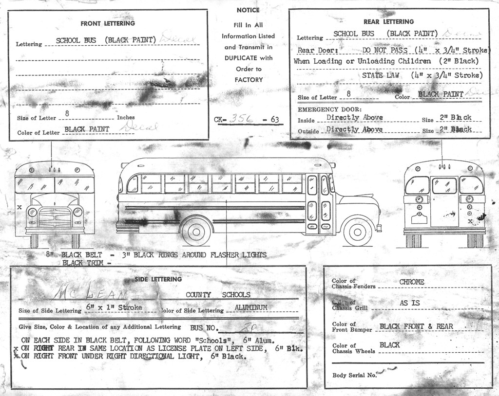School Bus Lettering Spec Sheet A Factory Lettering Specif Flickr