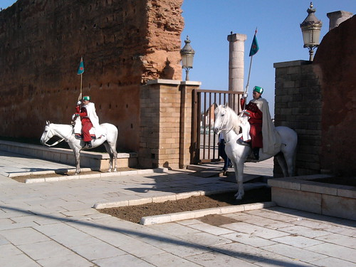 Traditional cavalry of Mohamed V Mausoleum | by Ali J'