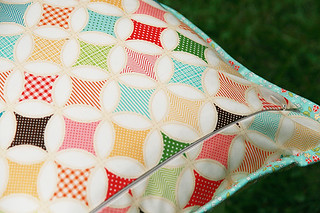 Seaside Patchwork Pillow | by Fresh Lemons : Faith