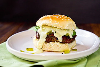 Stuffed Hatch Chile Cheeseburgers | by TheBrewer&TheBaker
