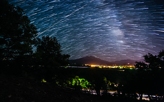 Star Trailing Over Mount Sopris in Carbondale, CO | by tobyharriman