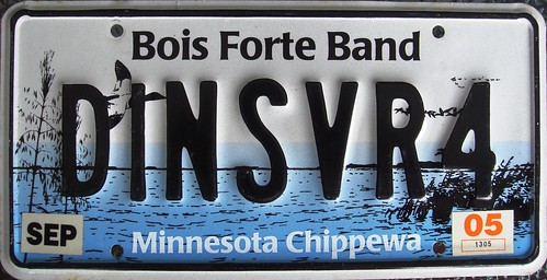 Bois Forte Band Vanity License Plate  by Sukos License Plates