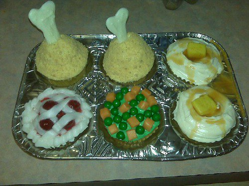 Thanksgiving TV Turkey Dinner Cupcakes | by mm sir ritz