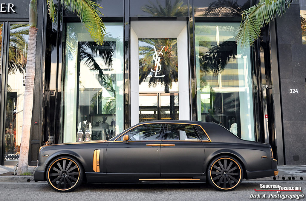 A Photo Shoot With A Unique Two Tone Rolls Royce Phantom C