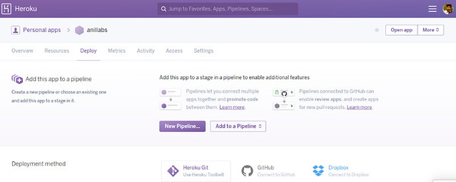 Application in Heroku -- Deploy Node.js application to Heroku