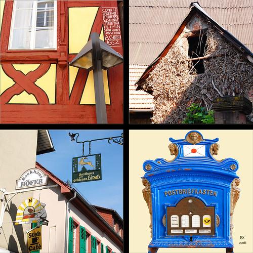 Schriesheim Bergstraße Badische Weinstraße Wein Altstadt historischer Stadtkern - Fotos und Collagen: Brigitte Stolle 2016