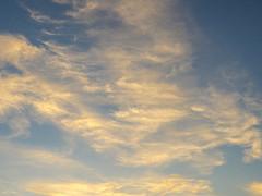 Blue sky and clouds at Cariri Paraibano