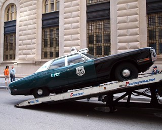 NYPD Tow Truck with 1972 Plymouth Fury Police Radio Patrol Car | by jag9889