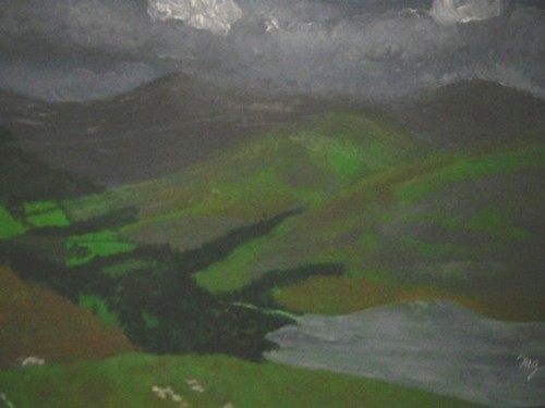 Angry clouds over the hills. | by Freda'sArtistPaintingPages