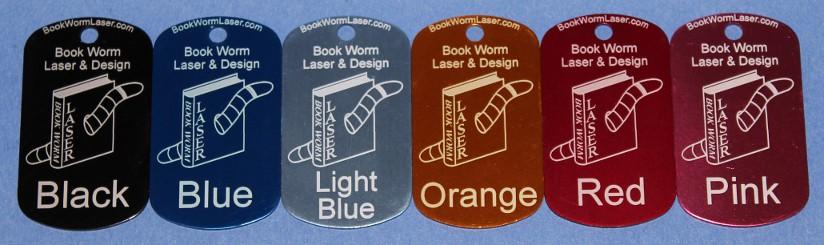 Samples -Tag colors - Laser engraved | Laser engraved tags ...