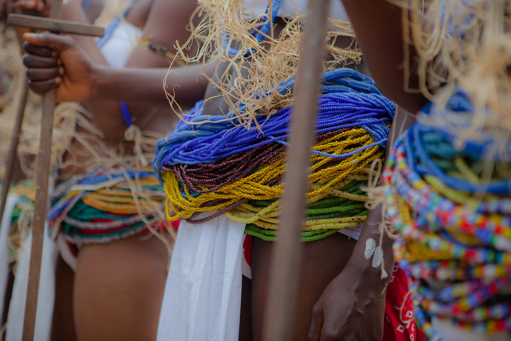 young girl with her mother from the Krobo tribal group