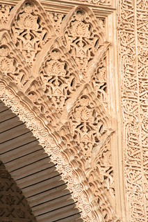 detail of a decorative archway at The Alhambra, Granada, Spain | by loobyloo55