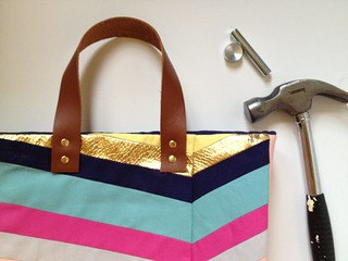 Art-Inspired Chevron Tote Bag 18 | by fabricpaperglue