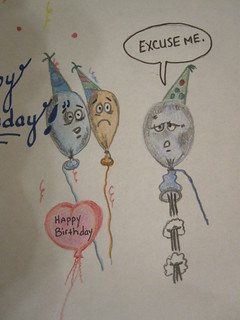 Funny Birthday Balloon Doodle | by diamondchanning