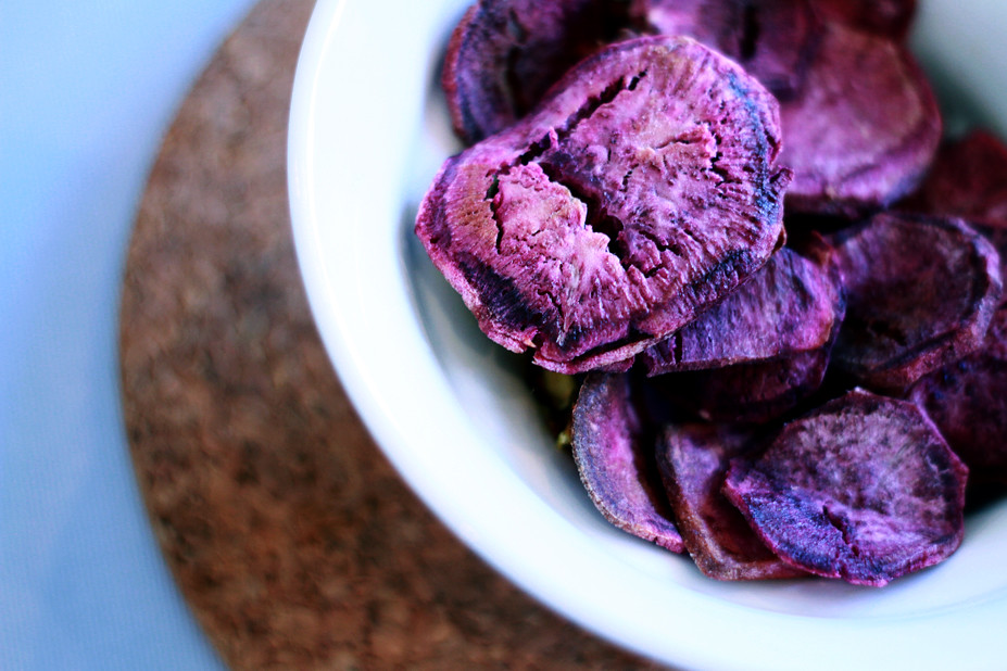 Home made purple sweet potato chips these are like magic for Sweet home 3d chip