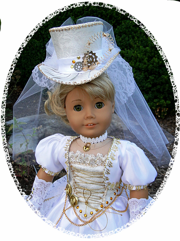 Steampunk victorian wedding dress for american girl or o for American girl wedding dress