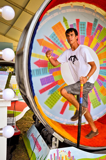 Human Hamster Wheel at Lollapalooza 2012 | by Global Inheritance.