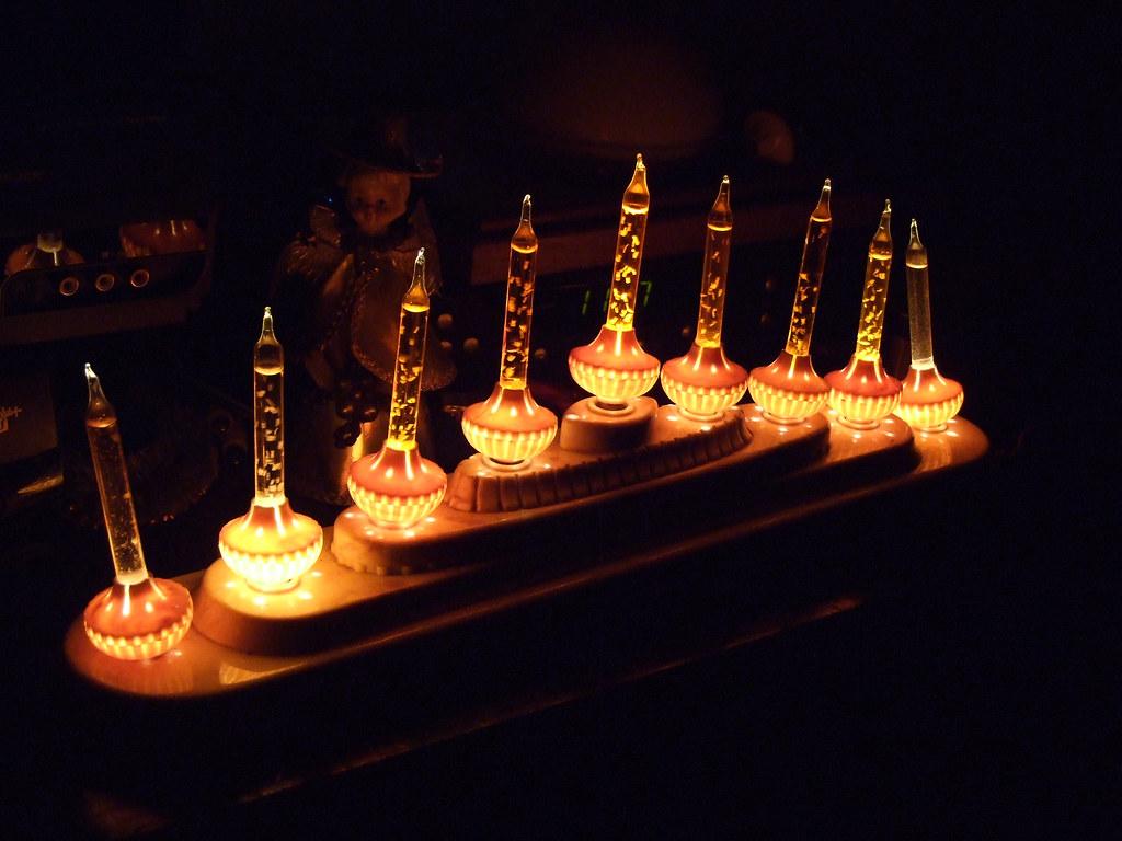 Royal bubble light candolier- marble base John Flickr