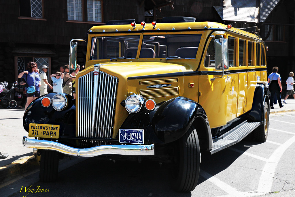 Yellowstone Yellow Bus In The Early Years Of Motor