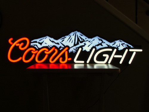 Coors Light Remote Control Led Neon Beer Sign Neon Beer
