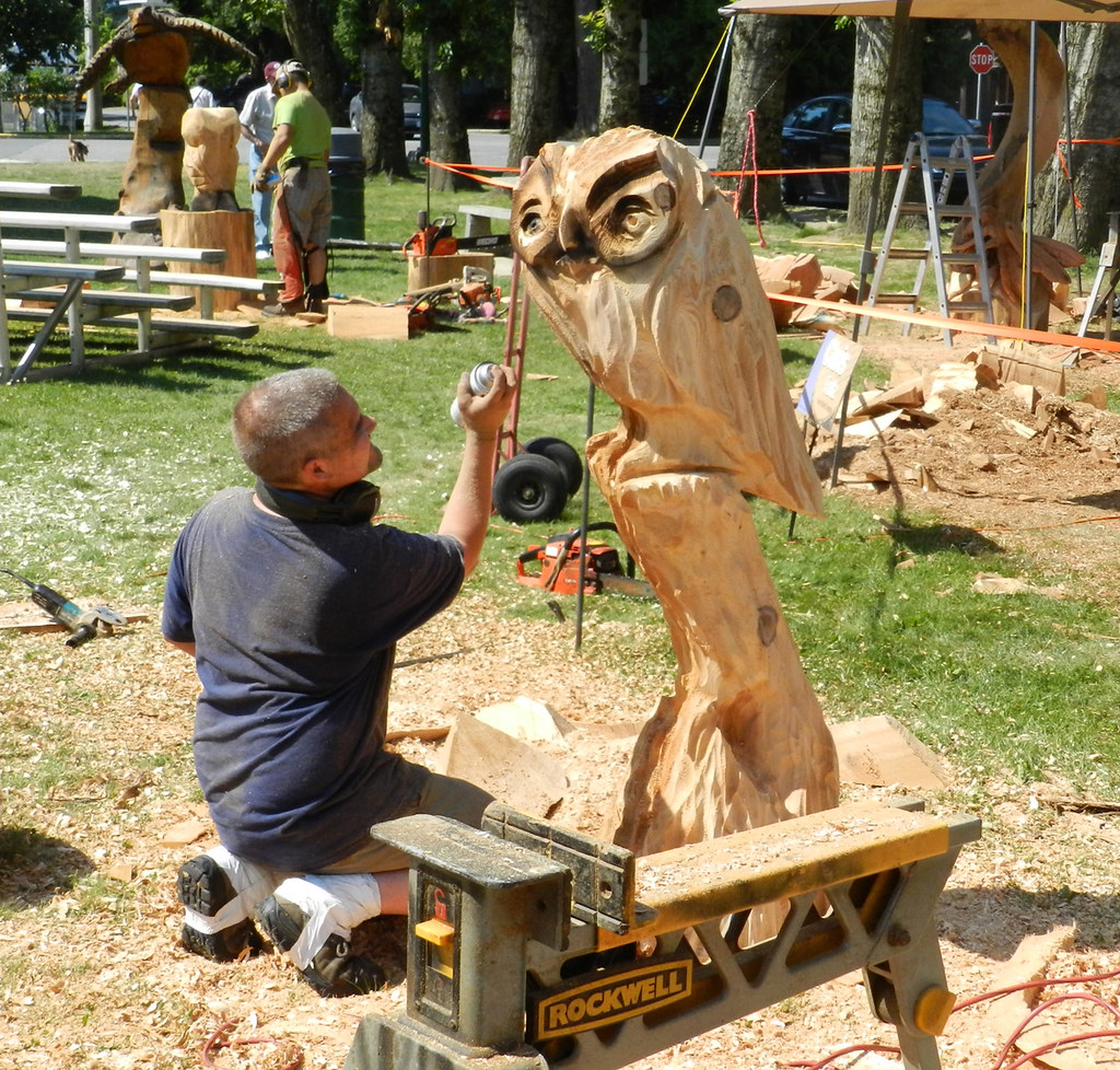 Chainsaw carving competition in hope tomas vrba