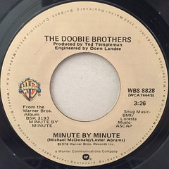 THE DOOBIE BROTHERS:MINUTE BY MINUTE(LABEL SIDE-A)