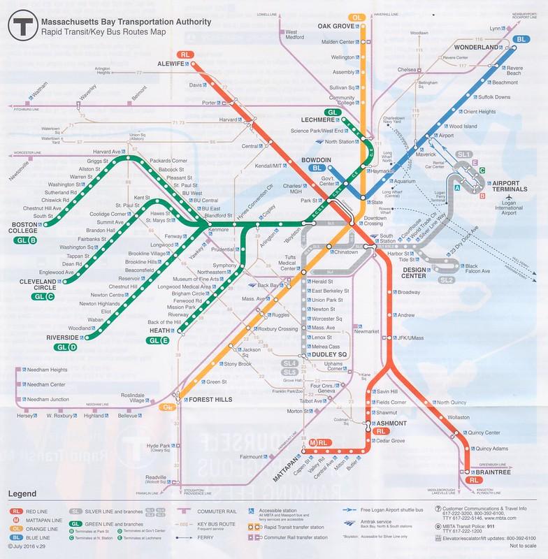 MBTA 2016 Map