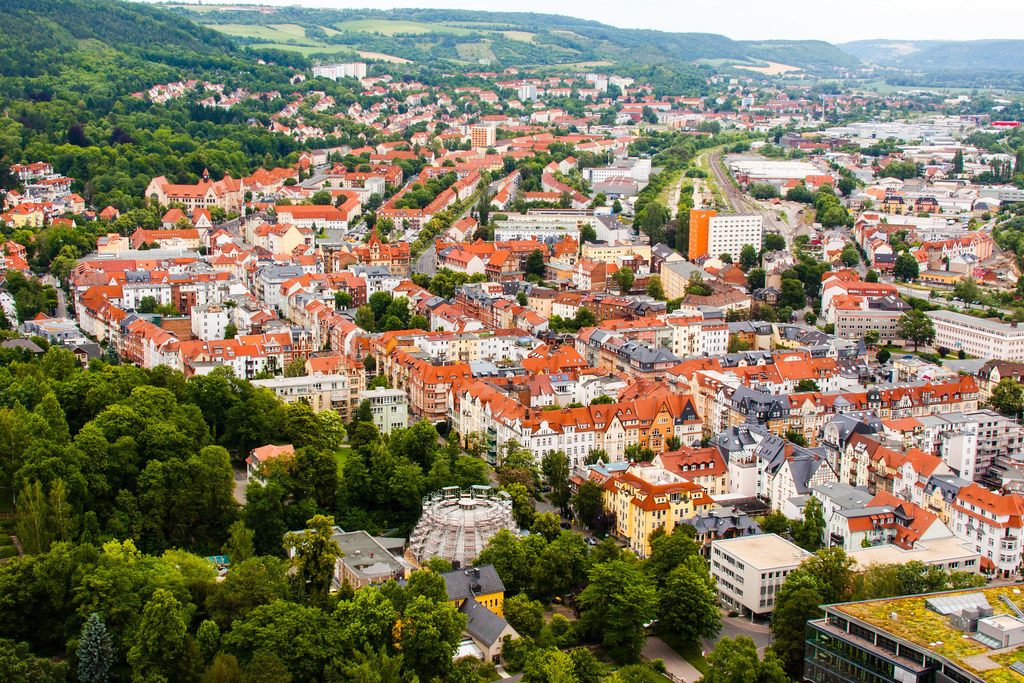 Jena Germany  city images : Jena, Germany | Most of the buildings in Jena have red roofs ...
