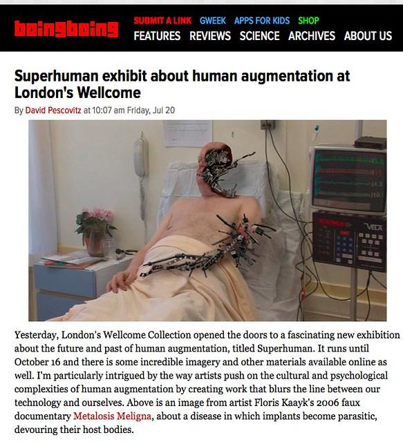 superhuman exhibit about human augmentation at london s we