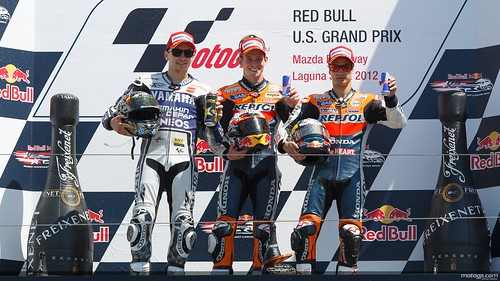 Casey, Lorenzo and Pedrosa on the podium | by AGPCMOTOGP