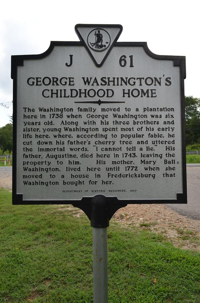 George Washington's Childhood Home Historical Marker | Flickr