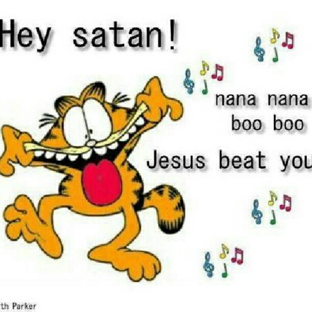 satan #Jesus #funny #Garfield #cartoon | LeAnne Kilman | Flickr