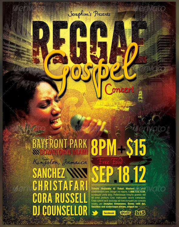 Reggae-Gospel-Concert-Church-Flyer-template-PREVIEW2 | Flickr