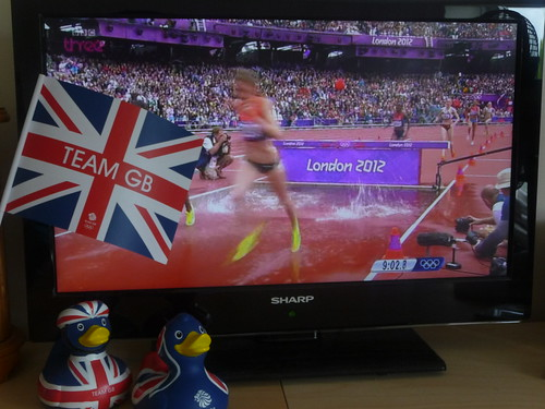 Watching the women's steeplechase at home on Super Saturday | by rachelmaryadams