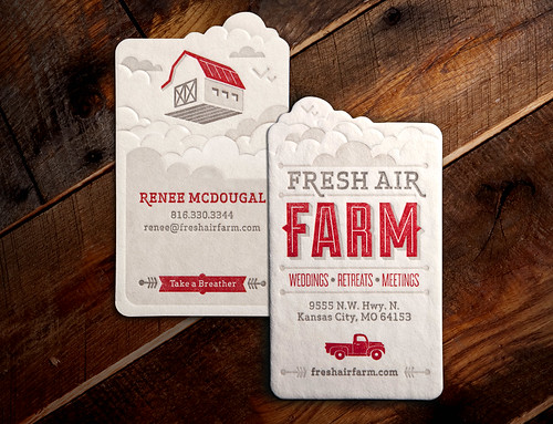 Fresh Air Farm Business Card | by Whiskey Design