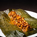 Steamed chanterelle mushrooms with epazote, achiote, and tamal colado 01