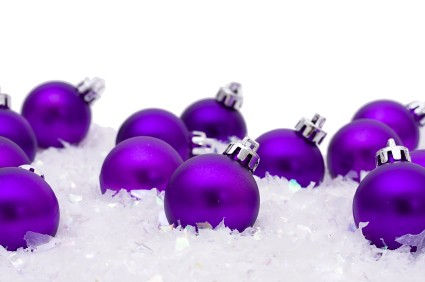 Purple Christmas Ornaments By Banque Internationale A Luxembourg