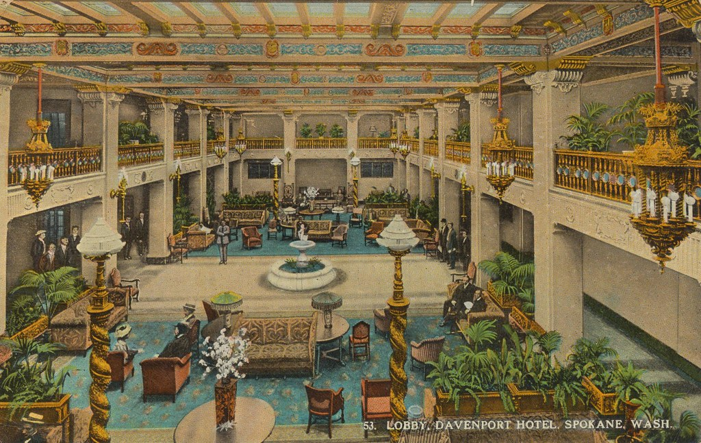 davenport hotel spokane washington mailed from. Black Bedroom Furniture Sets. Home Design Ideas