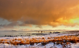 Snowy Sunrise at Mono Lake | by Dave Toussaint (www.photographersnature.com)