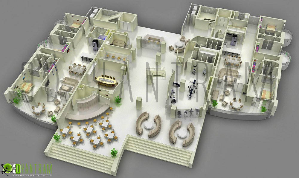 3d Corporate Office Floor Plan 3d Site Plan Gives The Abil Flickr