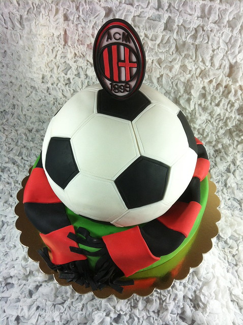 Cake With Ball Design : SOCCER BALL CAKE: MILAN by Red Carpet Cake Design ...